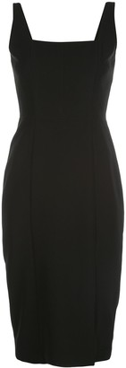 Milly Rita square neck midi dress