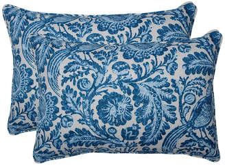 Tucker Resist Azure Over-sized Rectangular Throw Pillow, Set of 2