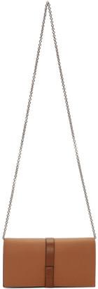 Loewe Tan Chain Wallet Bag