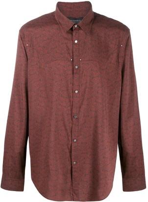 John Varvatos Graphic Print Long-Sleeve Shirt