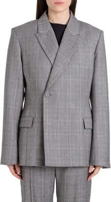 Balenciaga Glen Plaid Tailored Blazer