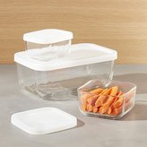 Crate & Barrel 3-Piece Rectangular Storage Container Set