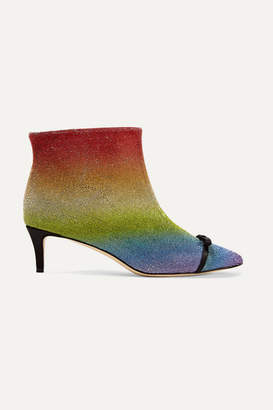 Marco De Vincenzo Pvc-trimmed Crystal-embellished Leather Ankle Boots - Metallic