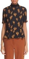 A.L.C. Women's 'Bailie' Floral Print Silk Top