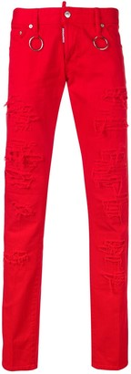 DSQUARED2 Distressed Effect Slim Jeans