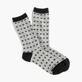 J.Crew Trouser socks in croquet print