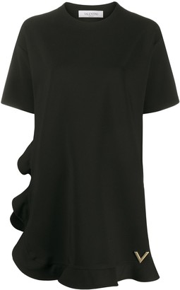 Valentino VGOLD peplum hem T-shirt dress
