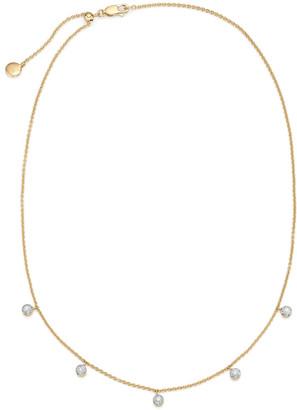 Monica Vinader Fiji Tiny Button Diamond Necklace