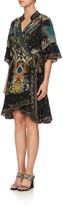 Camilla Wrap Dress with Raglan Sleeve
