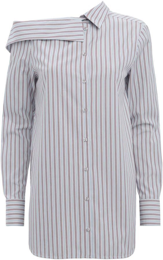 Victoria Beckham Victoria, Striped Off Shoulder Shirt