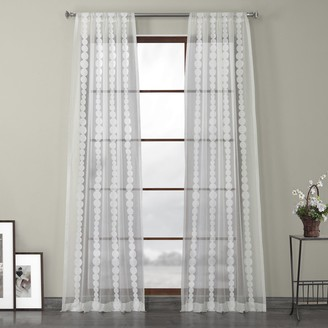 EFF 1-Panel Cleopatra Embroidered Sheer Window Curtain