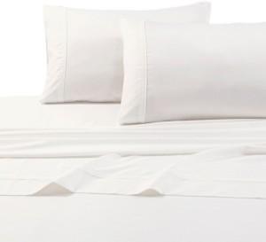 Tribeca Living Egyptian Cotton Sateen 500 Thread Count Extra Deep Pocket 4-Piece Queen Sheet Set Bedding