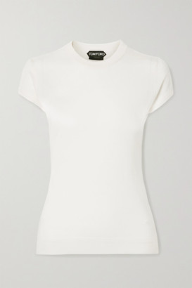 Tom Ford Cashmere And Silk-blend Sweater - Ivory