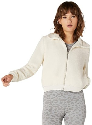 Beyond Yoga All Time Bomber Jacket (Cream Sherpa) Women's Clothing