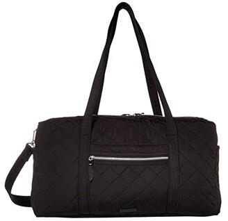 Vera Bradley Performance Twill Medium Travel Duffel (Black) Duffel Bags
