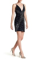 Dress the Population Deep V-Neck Logan Sequin Dress