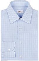 Brioni Men's Checked Cotton Shirt-Light Blue
