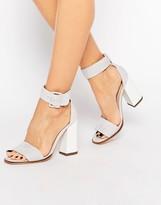 Carvela 2 Part Gray Suede Sandal