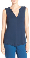 Midnight by Carole Hochman Split Neck Tank