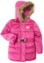Juicy Couture Girls 7-16) Faux Fur Hooded Belt Jacket