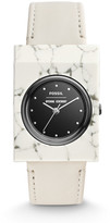 Fossil x Opening Ceremony Gemstone Three-Hand White Leather Watch