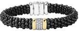 Lagos Women's 'Black Caviar' Diamond Rope Bracelet