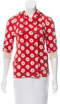 Marc by Marc Jacobs Floral Print Hooded Jacket