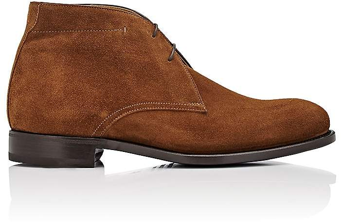 Isaia MEN'S SUEDE CHUKKA BOOTS