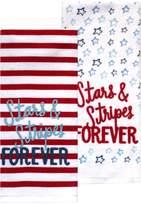Celebrate Americana Together Stars & Stripes Kitchen Towel 2-pack