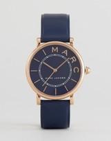 Marc Jacobs MJ1534 Navy Leather Roxy Watch