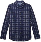 Blue Blue Japan - Checked Cotton-Flannel Shirt