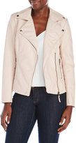 Max Studio Faux Leather Asymmetrical Jacket