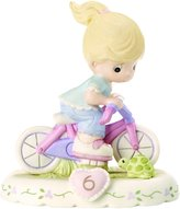 """Precious Moments 152012 """"Growing In Grace, Age 6"""" Girl Bisque Porcelain Figurine Birthday Gifts"""