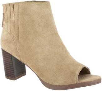 Bella Vita Leather Open Toe Booties - Lex
