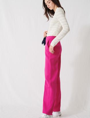 Maje Fuchsia tailored trousers