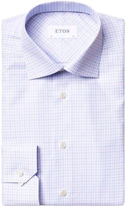 Eton Men's Slim-Fit Plaid Cotton Dress Shirt