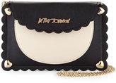 Betsey Johnson Wavy Days Phone Crossbody Bag, Cream/Black
