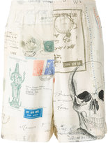 Alexander McQueen Letters from India print bermuda shorts - men - Viscose - 48