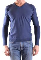Fred Mello Men's Blue Cotton Sweater.