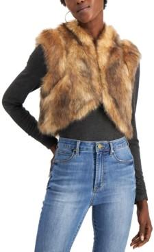 INC International Concepts Inc Faux-Fur Shrug, Created for Macy's