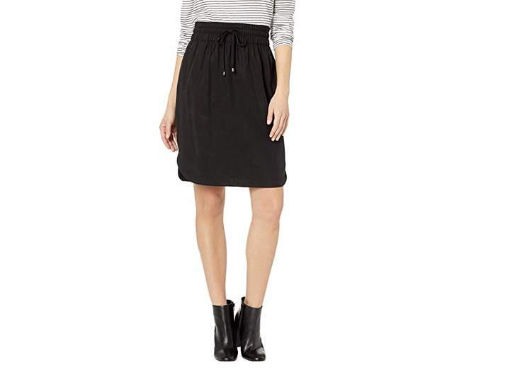 All Weather Twill Shirt Tail Hem Skirt