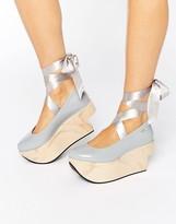 Melissa Flatform Tie Ankle Shoe