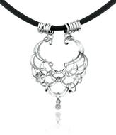 Orlando Orlandini Scintille - Diamond Drop 18K White Gold Net Necklace