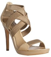 tan leather and elastic 'Malise' strappy sandals