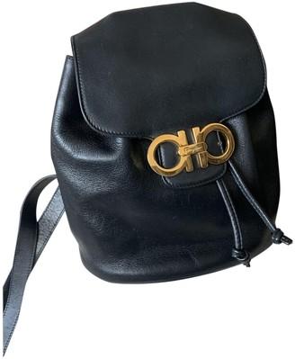 Salvatore Ferragamo Black Leather Backpacks