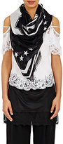 """Givenchy Women's """"17"""" Scarf-BLACK, WHITE, NO COLOR"""