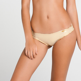 Luli Fama L176521) Full Ruched Back Bottom In Gold Rush