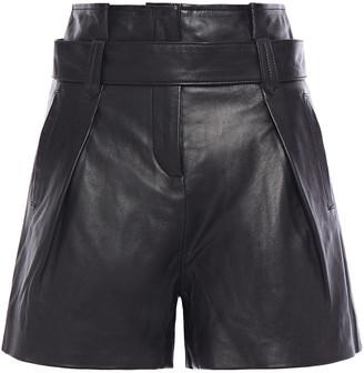 Muu Baa Muubaa Belted Leather Shorts