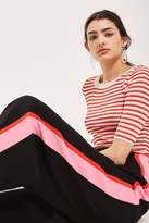Petite side striped trousers