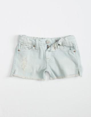 Tractr Side Slit Little Girls Denim Shorts (4-6x)